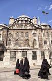Outside Eminonu Yeni mosque Royalty Free Stock Photo