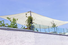 Outside exterior terrace on roof Stock Photo