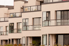 Outside facade of modern apartment block building Royalty Free Stock Photo