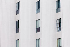 Outside facade of modern apartment block building Royalty Free Stock Image