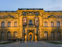 The outside facade of the Old Masters Picture Gallery in Zwinger Stock Images