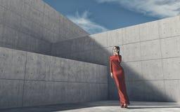 Outside fashion portrait of elegant women Stock Photos