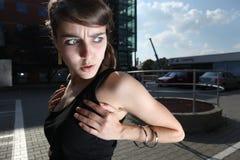 Outside fashion story Stock Photography