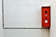 Outside Fire Extinguisher stock images