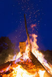 Outside fire Stock Photography