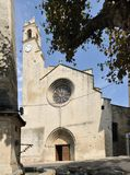 Outside the Forcalquier church, France Royalty Free Stock Images