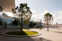 Outside Gibraltar International Airport. A view outside the Gibraltar International Airport in the British Overseas Territory of Gibraltar Stock Photos