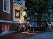 Outside Grendel's Den, famous Harvard Square restaurant, on a su Stock Images