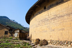 Outside of Hakka earth building Royalty Free Stock Photography