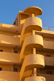 Outside helical stairs condo architecture in Spain Royalty Free Stock Photos