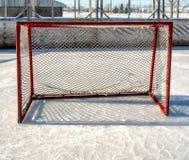 Outside hockey rink goal Royalty Free Stock Image