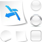 Outside  icon. Outside  white icon. Vector illustration Stock Photography
