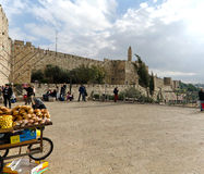 Outside Jaffa gate Stock Photos