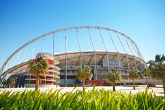 Outside Khalifa stadium Stock Photography