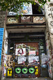 OUTSIDE OF KUNSTAHAUS TACHELES IN BERLIN royalty free stock photography