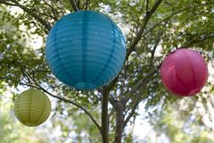 Outside Lanterns. For a party royalty free stock images