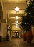 Outside lanterns in a hall Royalty Free Stock Images