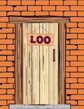 Outside Loo Door Stock Photo