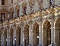 Outside the Louvre museum, Paris Royalty Free Stock Photo