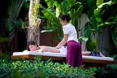 Outside Massage Royalty Free Stock Photos