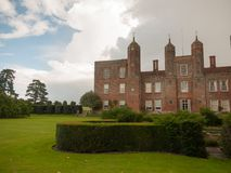 Outside melford hall in long melford suffolk mansion manor overc Royalty Free Stock Images