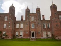 Outside melford hall in long melford suffolk mansion manor overc Royalty Free Stock Photo