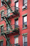 Outside metal fire escape stairs, New York Stock Photos