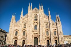 Milan Cathedral Exterior / Duomo di Milano royalty free stock images