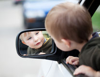 Outside mirror, Royalty Free Stock Photo