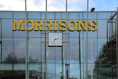Sign outside the morrisons supermarket in crawley west sussex royalty free stock photography