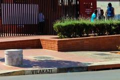 Outside Nelson Mandela ` s dom w Vilakazi ulicie Soweto obrazy royalty free