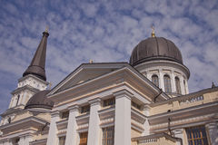 Outside the Odessa Orthodox Cathedral in Ukraine Royalty Free Stock Images