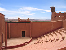 Outside old theater hall. Taourirt Kasbah - Ouarzazate - Morocco Stock Photo