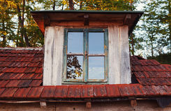 Outside of an Old Wooden House Royalty Free Stock Photo