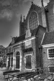 Outside of Oude Kerk church in Amsterdam Netherlands HDR Stock Photography