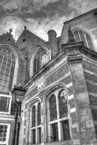 Outside of Oude Kerk church in Amsterdam Netherlands HDR Stock Images