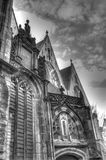 Outside of Oude Kerk church in Amsterdam Netherlands HDR Stock Photo
