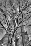 Outside of Oude Kerk church in Amsterdam Netherlands HDR Stock Image