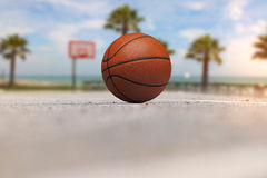 Outside, outdoor summer basketball Royalty Free Stock Images