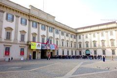Outside the Palazzo Reale Royalty Free Stock Photo