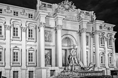 Outside of a pandal replica Trevi Fountain Stock Image