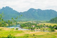 Outside Phong Nha Ke Bang natural preserve, Vietnam. Stock Photo