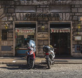Outside of a Pizzeria on a Street in Rome Royalty Free Stock Photos