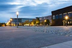 Outside podwórze przodu architektury Zewnętrzni Lampposts Techinca Fotografia Royalty Free