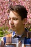 Outside portrait of teen boy Royalty Free Stock Photo