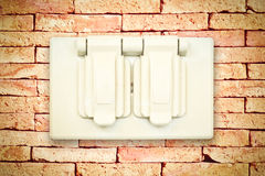 Outside power outlet Royalty Free Stock Photography
