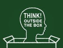 outside pudełkowata myśl ilustracji