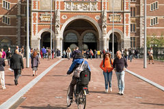 Outside the Rijksmuseum in Amsterdam Royalty Free Stock Images