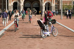 Outside the Rijksmuseum in Amsterdam Royalty Free Stock Image