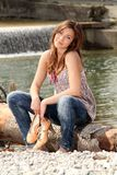 Outside at a river Stock Photography